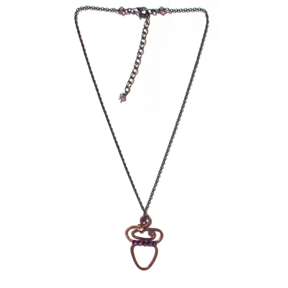 silver htm necklace p rose pendant gold acorn