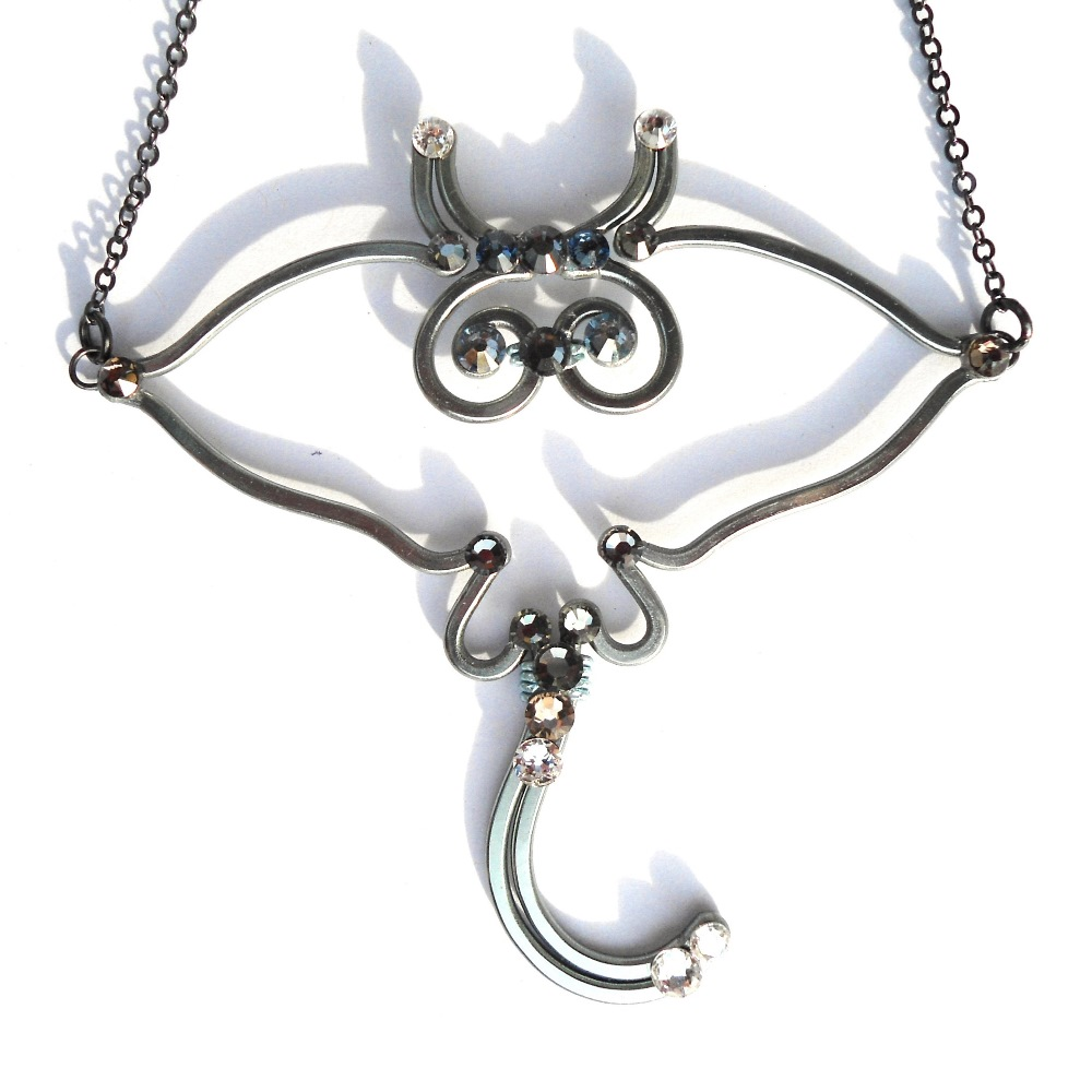 Stingray necklace learn to make jewellery stingray necklace charcoal main mozeypictures Gallery