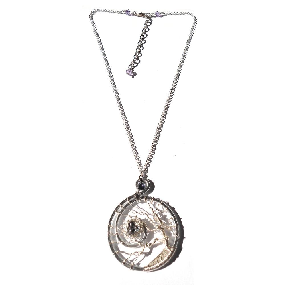 Tree of life birds nest pendant learn to make jewellery tree of life bird nest pendant silver peacock aloadofball Choice Image